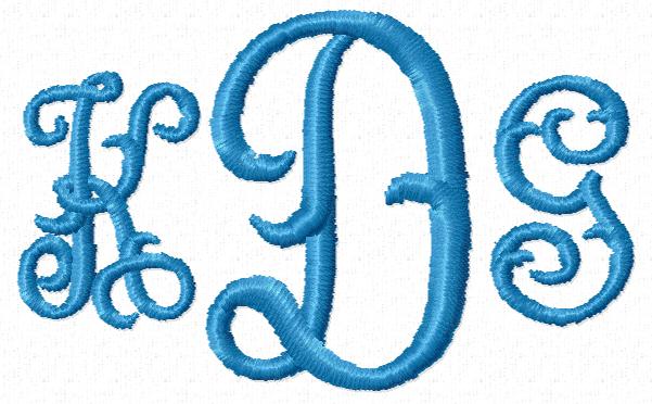 Monogram Script Label